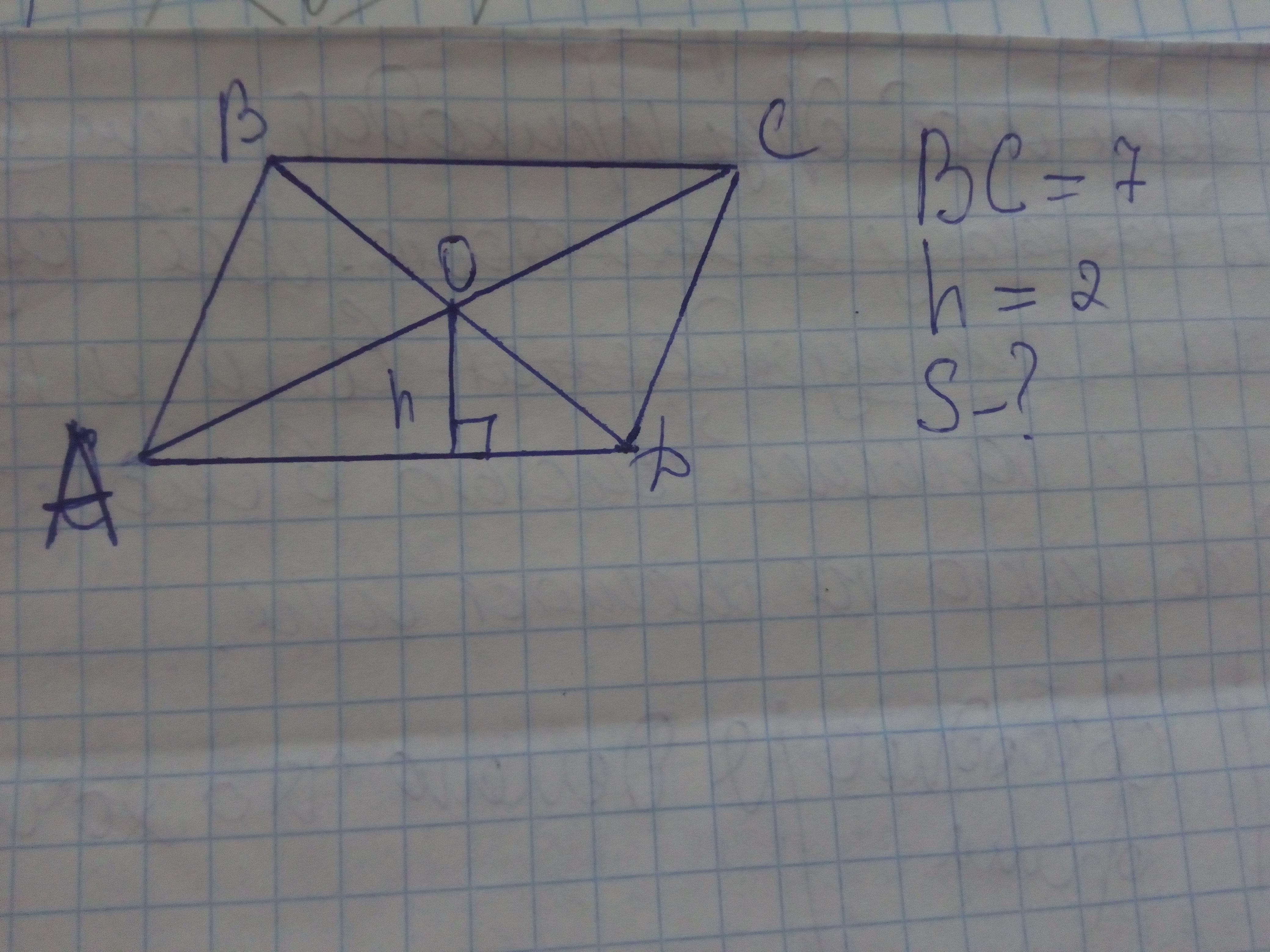 Помогите с задачей! Как найти площадь? (См. на фото)