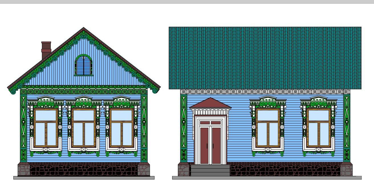татарский дом рисунок ограда замечательно подчеркивает