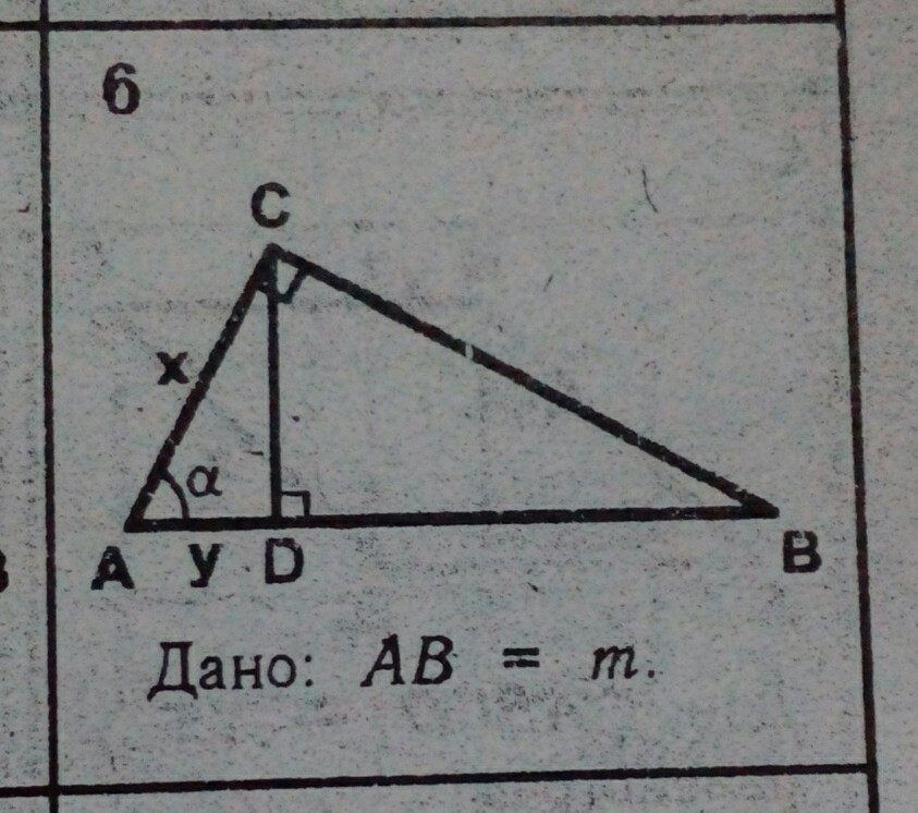 Решение прямоугольных треугольников. Найти Х и У.