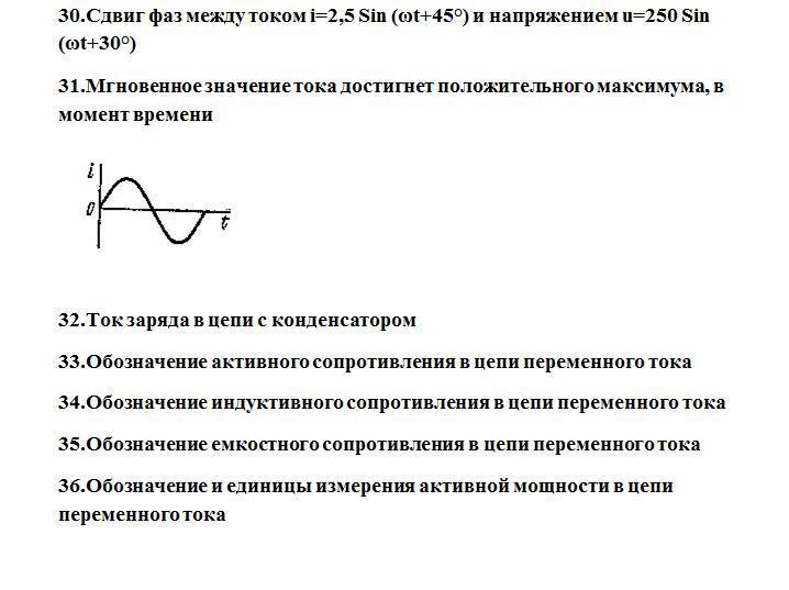 37.Обозначение и единицы измерения реактивной