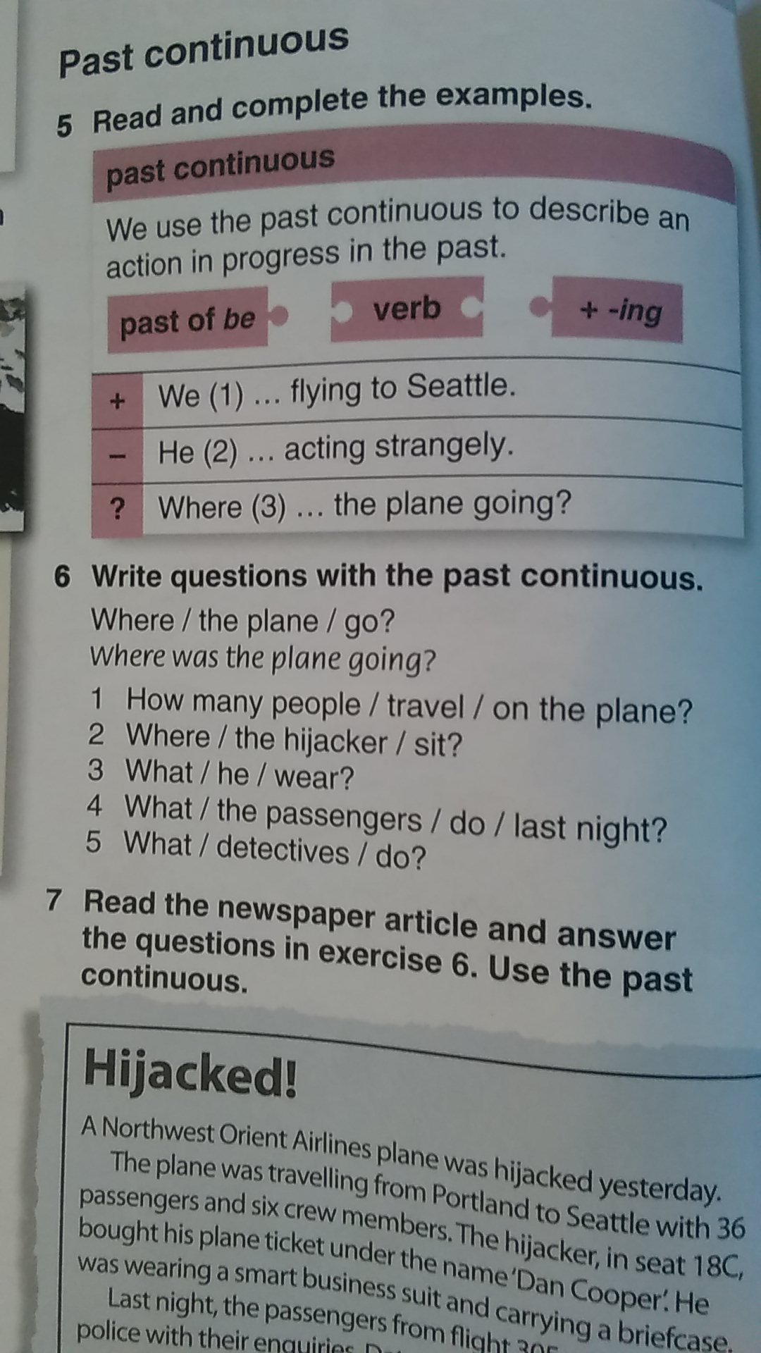 continuous writing using newspaper articles