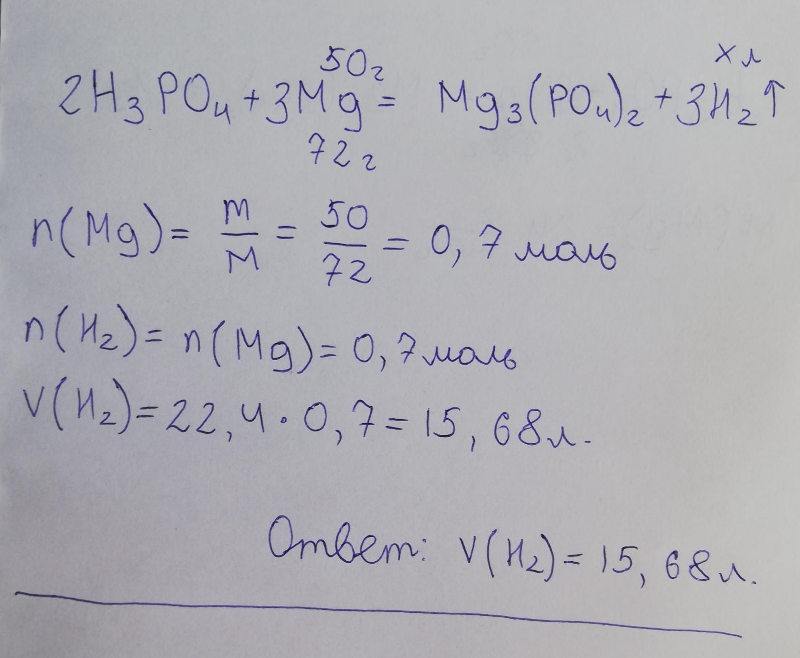 Визначити об'єм водню який утворився в результаті