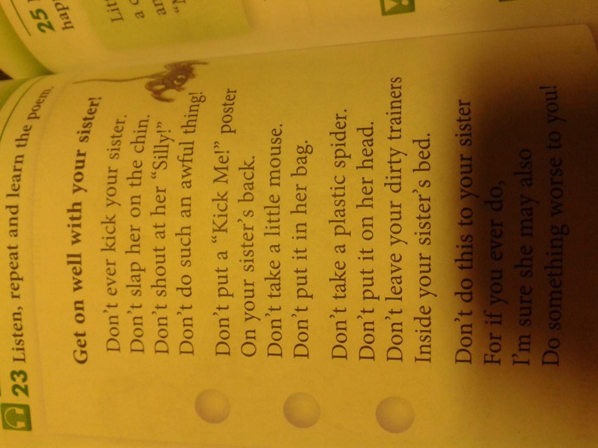 Стихотворения на английском языке 5 класс