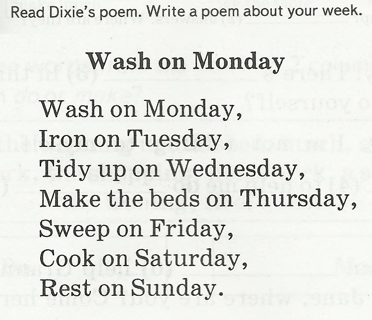 Стих о днях неделях по английскому языку