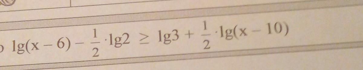 Изображение к вопросу 40 баллов решить логарифмическое нераенство