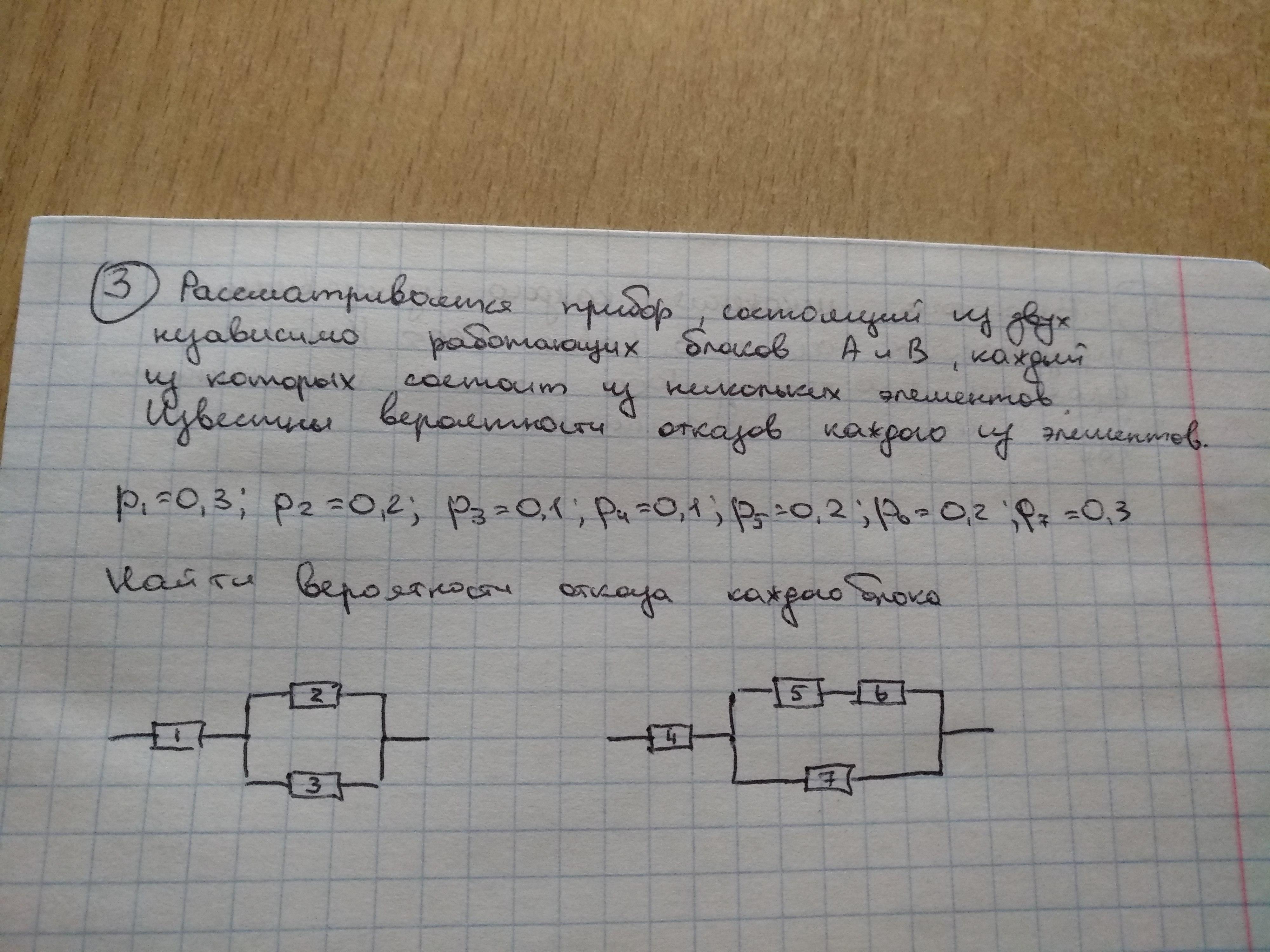 Задача по теории вероятности