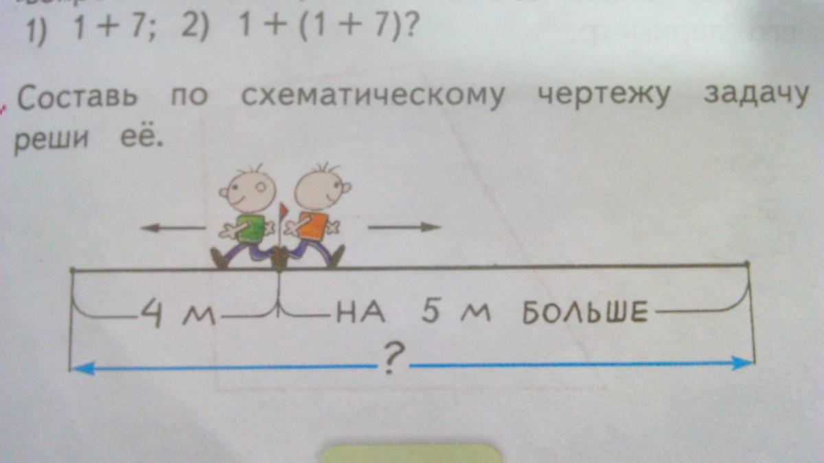 Сделай схематический чертеж и реши задачу