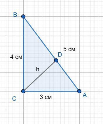Катеты прямоугольника треугольника равны 3 см и 4