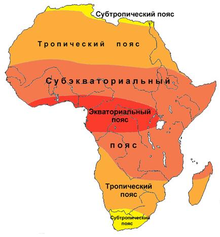 Субэкваториальный пояс африки географическое