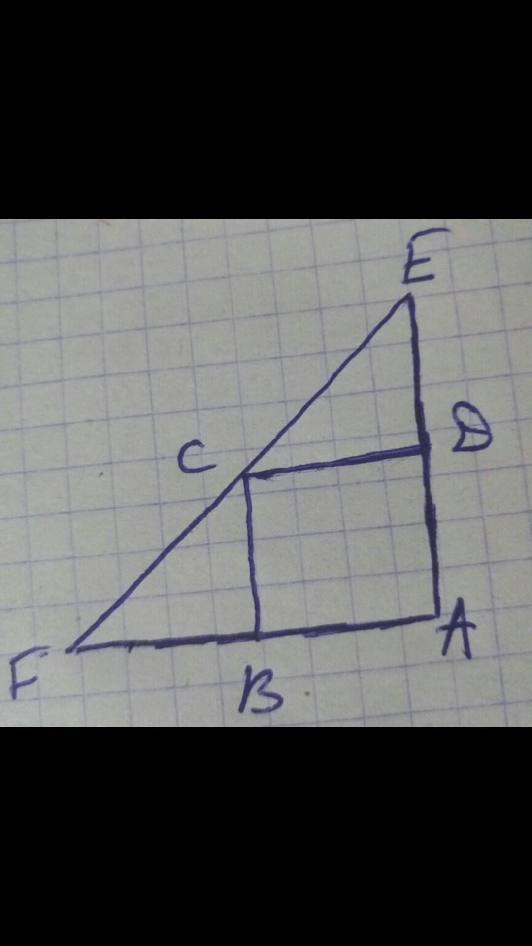 Найти площадь треугольника изображенного на рисунке если стороны клеток