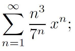 Найти область сходимости степенного ряда: