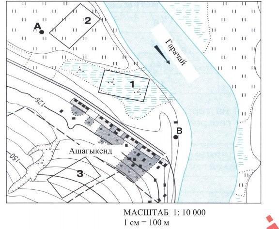 1)В каком направлении течет река Гарачай ?